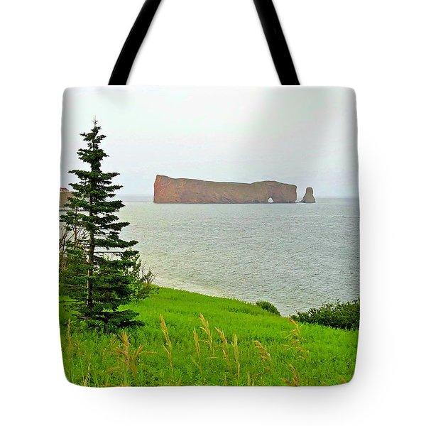 Perce Rock Gaspe Painterly Tote Bag
