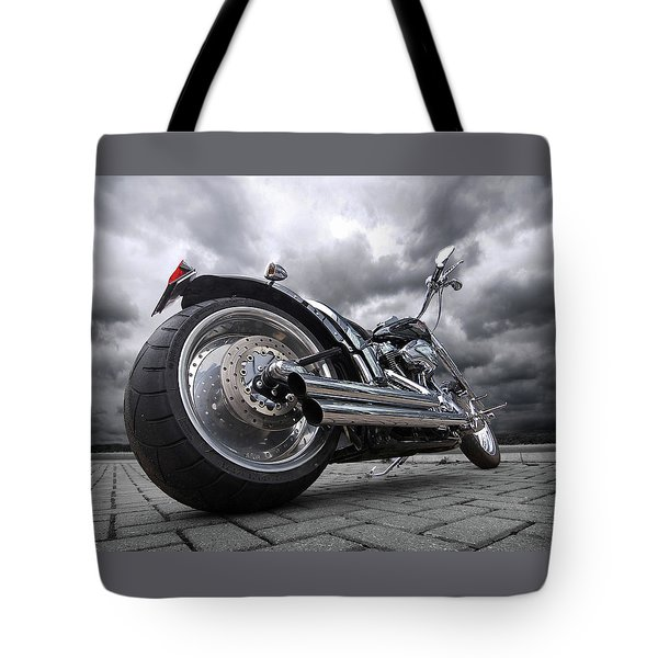 Storming Harley Tote Bag