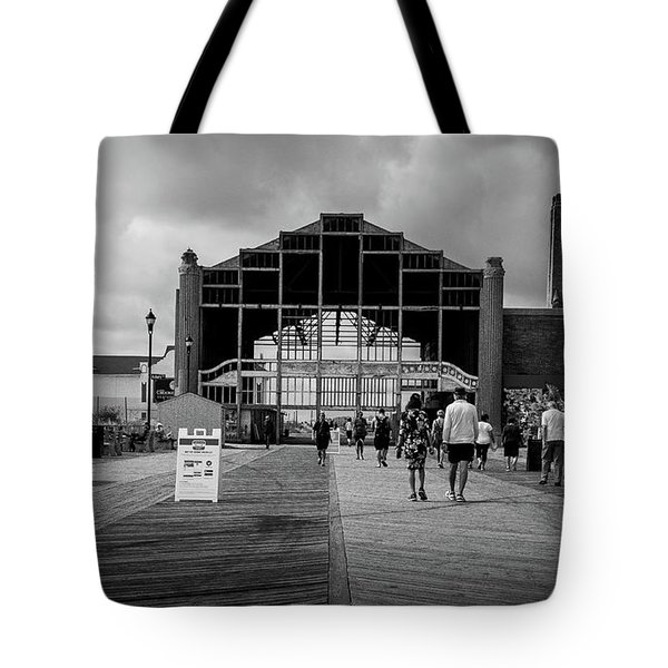 Tote Bag featuring the photograph Asbury Park Boardwalk by Steve Stanger