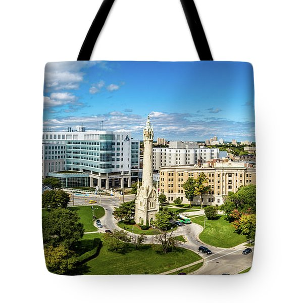 Tote Bag featuring the photograph Ascension Columbia St. Mary's Hospital by Randy Scherkenbach