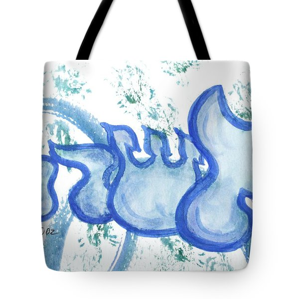 Tote Bag featuring the painting Ashera  Nf15-4 by Hebrewletters Sl
