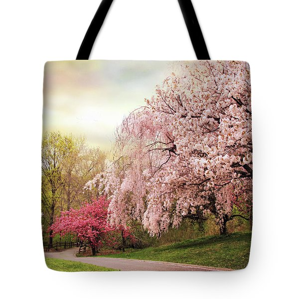 Asian Cherry Grove Tote Bag