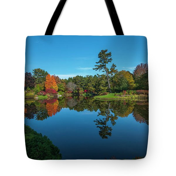 Tote Bag featuring the photograph Asticou Reflection by Rick Hartigan