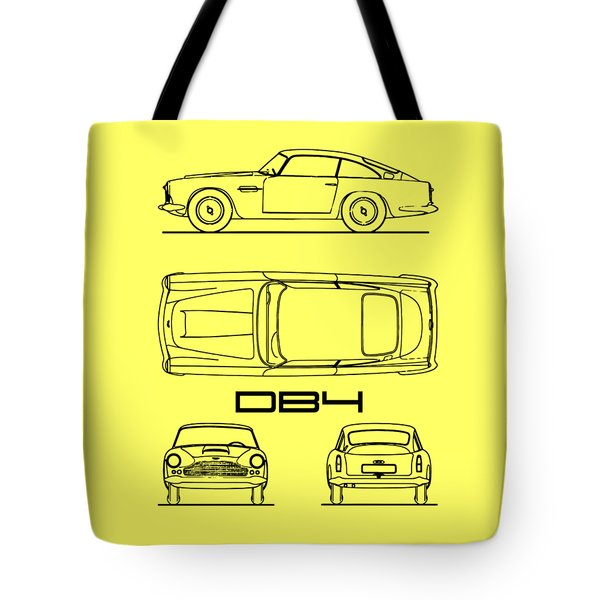 Aston Martin Db4 Blueprint Tote Bag