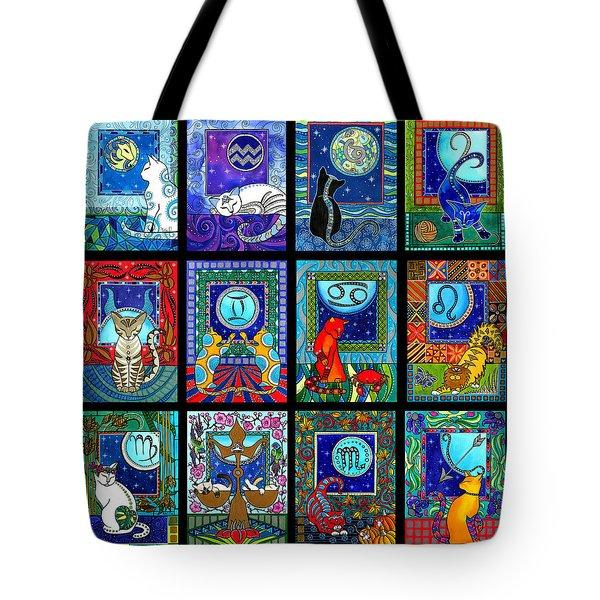 Astrology Cat Zodiacs Tote Bag