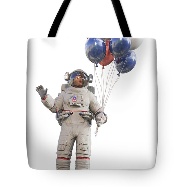 Astronaut With Happy Balloons  Tote Bag