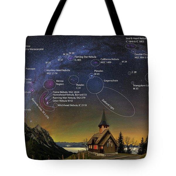 Astrophotography Winter Wonderland Tote Bag