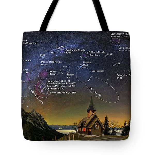 Astrophotography Winter Wonderland Tote Bag