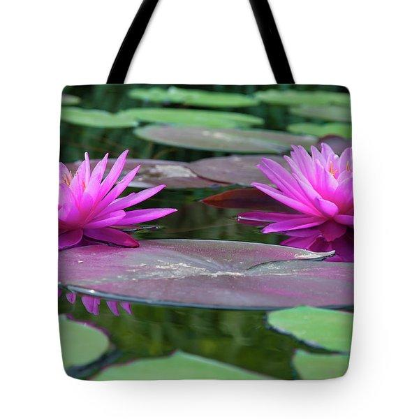 At Longwood Gardens - Water Lillies  Tote Bag