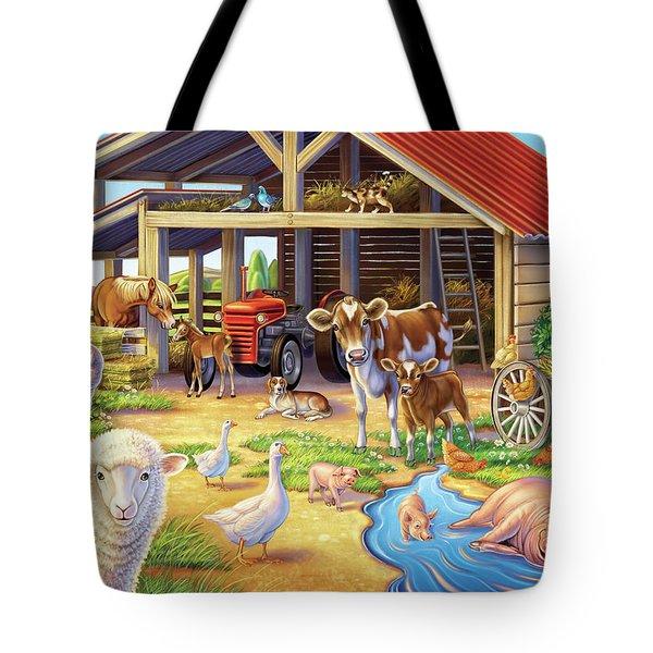 At The Farm Tote Bag
