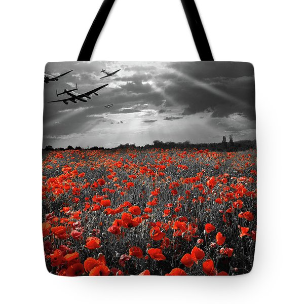Tote Bag featuring the photograph At The Going Down Of The Sun Selective Red Version by Gary Eason