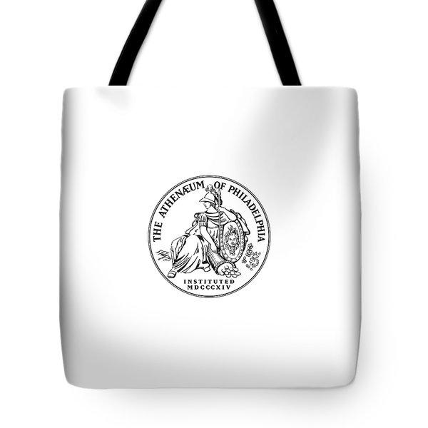 Athenaeum Of Philadelphia Logo Tote Bag