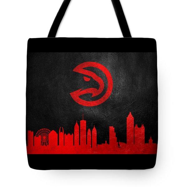 Atlanta Hawks Skyline Tote Bag