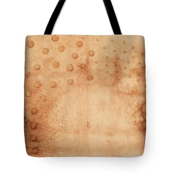 Atlantic Codex - Codex Atlanticus, F 33 Recto Tote Bag
