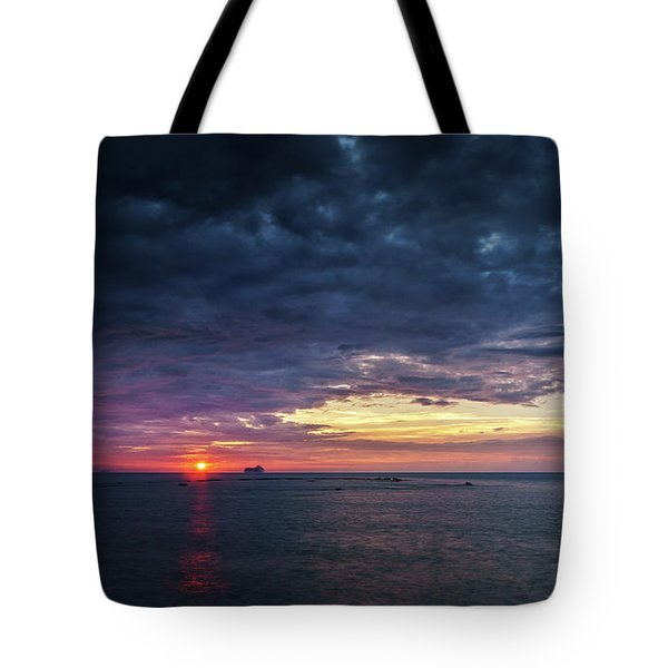 Tote Bag featuring the photograph Atlantic Ocean Sunset by Pablo Avanzini