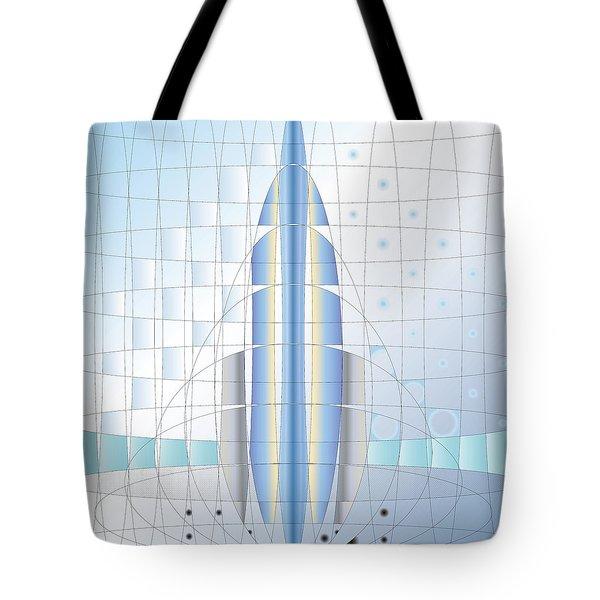 Atomic Rocket Tote Bag