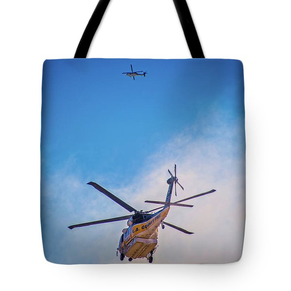 Tote Bag featuring the photograph Attacking The Fire From All Sides by Lynn Bauer