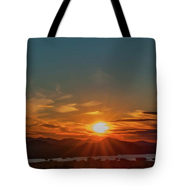 Attean Pond Sunset Tote Bag