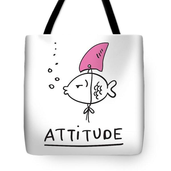 Attitude - Baby Room Nursery Art Poster Print Tote Bag