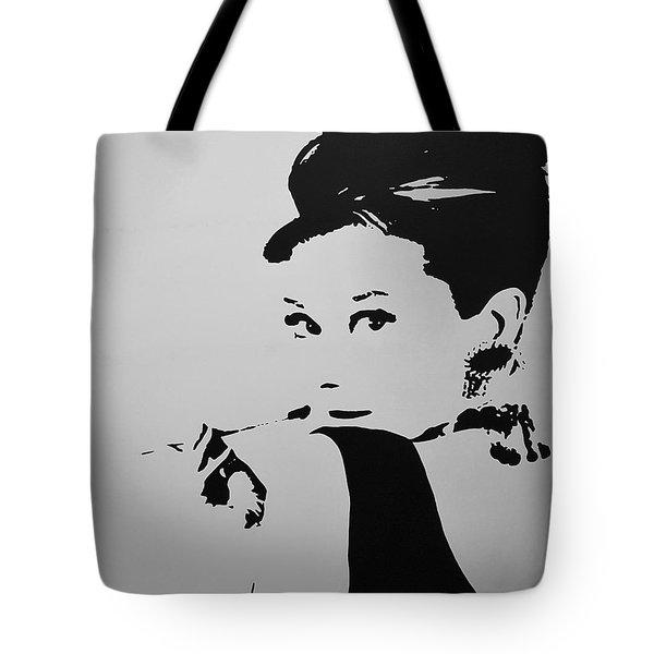 Audrey B W Tote Bag