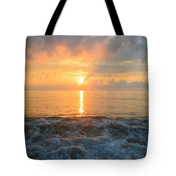 Tote Bag featuring the photograph August Obx Sunrise by Barbara Ann Bell