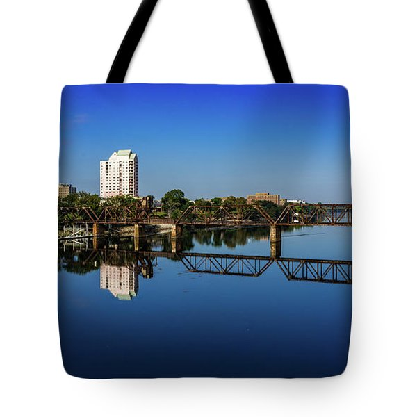 Augusta Ga Savannah River Panorama Tote Bag