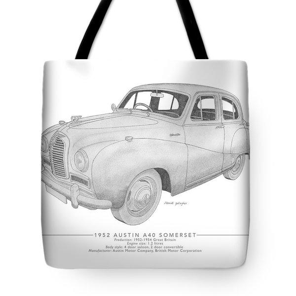 Austin A40 Somerset Saloon Tote Bag