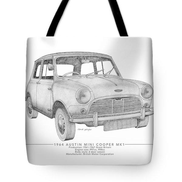 Austin Mini Cooper Saloon Tote Bag