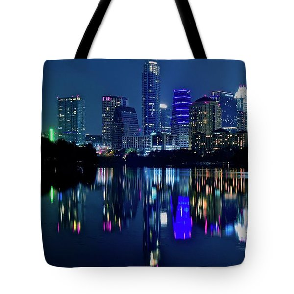 Austin Night Reflection Tote Bag