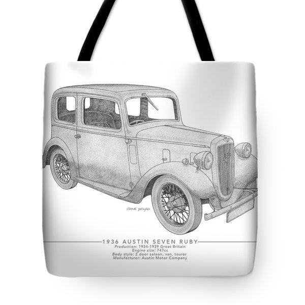 Austin Seven Ruby Saloon Tote Bag
