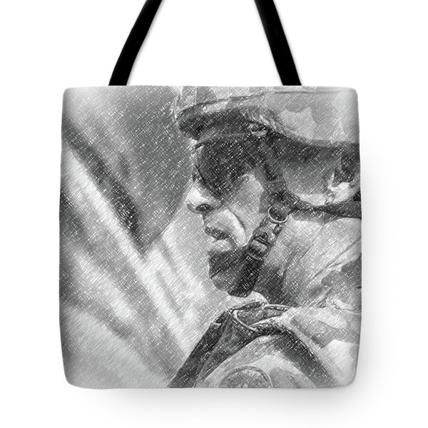 Tote Bag featuring the photograph Australian Soldier In Afghanistan by SR Green
