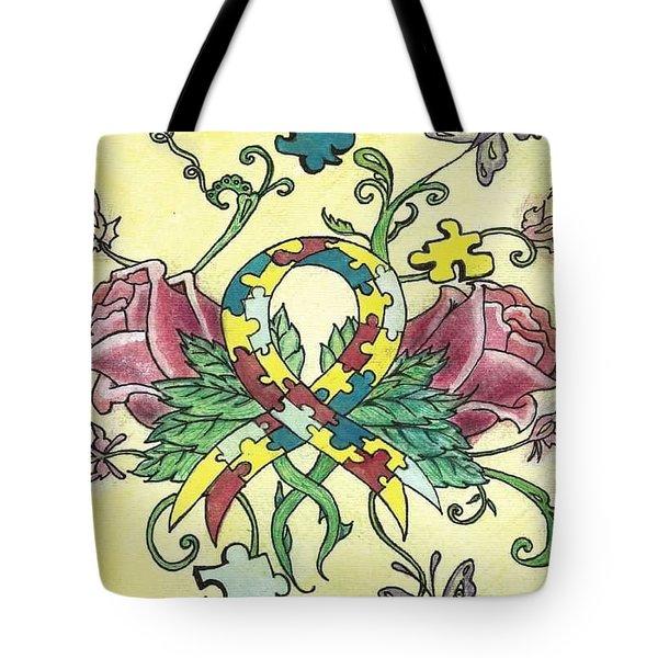 8c77126ba778 Autism Awareness Tote Bags | Fine Art America