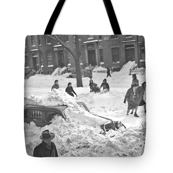 Auto Buried In Snow  Ca  1939 Tote Bag