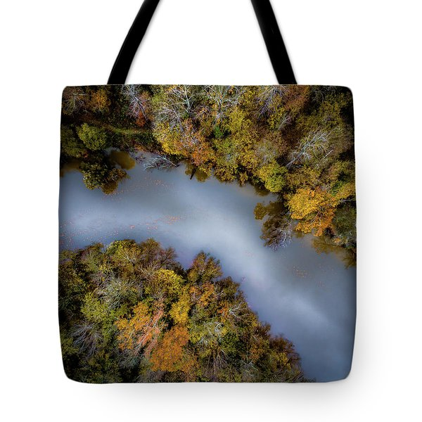 Autumn Arrives At The River Tote Bag
