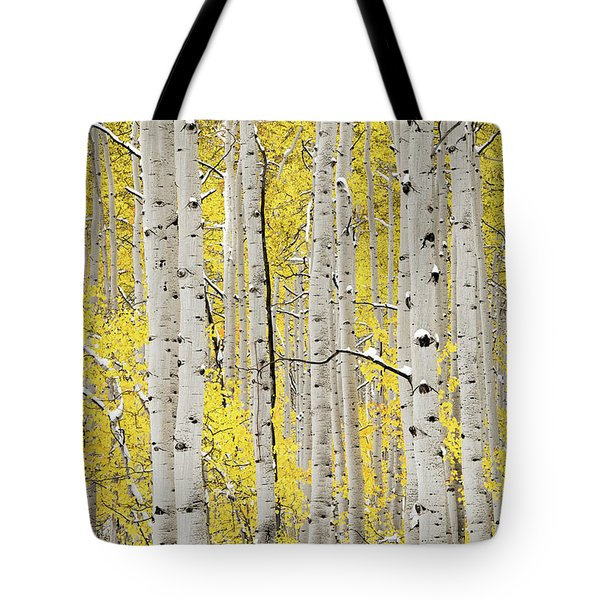 Tote Bag featuring the photograph Autumn Aspens 6 by Leland D Howard