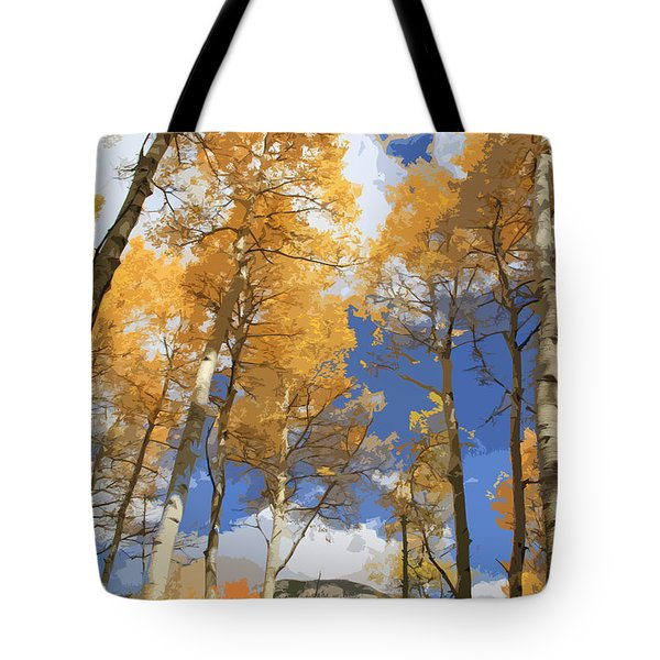 Autumn Aspens In The Rockies Tote Bag