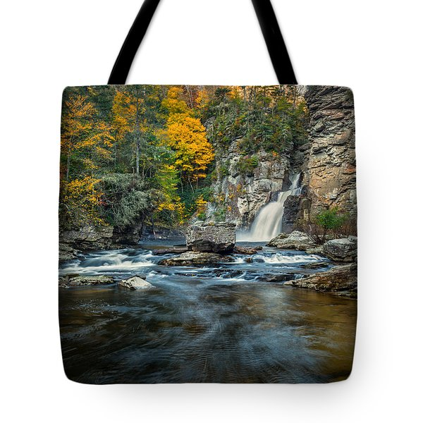 Autumn At Linville Falls - Linville Gorge Blue Ridge Parkway Tote Bag