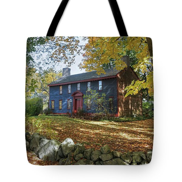 Tote Bag featuring the photograph Autumn At Short House by Wayne Marshall Chase