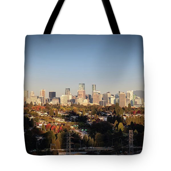 Autumn At The City Tote Bag