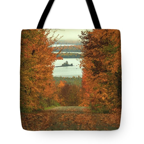 Autumn Back Road To Moosehead Lake Tote Bag