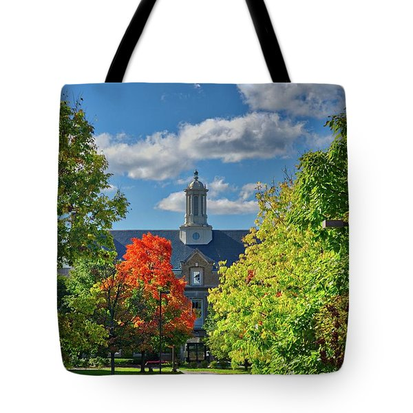 Tote Bag featuring the photograph Autumn Beauty At Cornell University - Ithaca, New York by Lynn Bauer