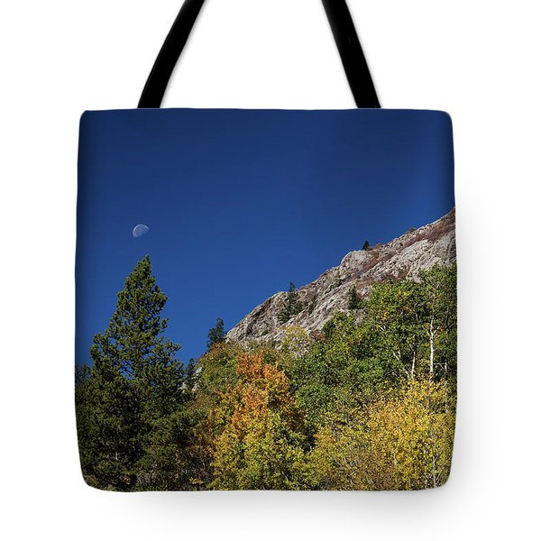 Tote Bag featuring the photograph Autumn Bella Luna by James BO Insogna