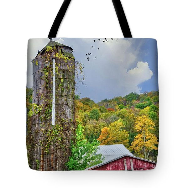 Tote Bag featuring the photograph Autumn Bliss On The Farm - Finger Lakes, New York by Lynn Bauer
