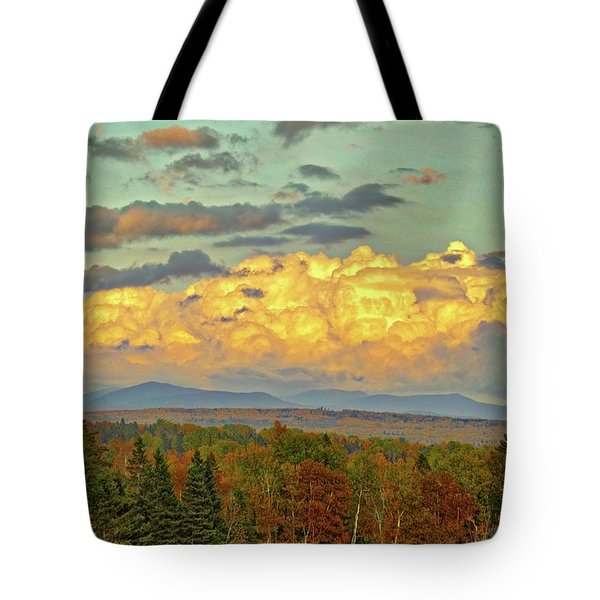 Autumn Clouds Over Maine Tote Bag