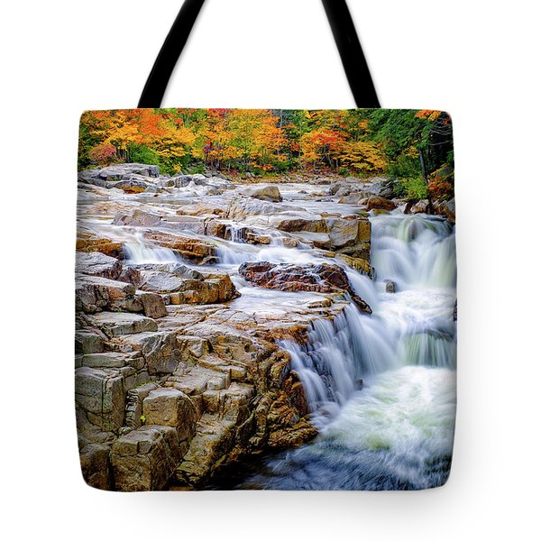 Autumn Color At Rocky Gorge Tote Bag