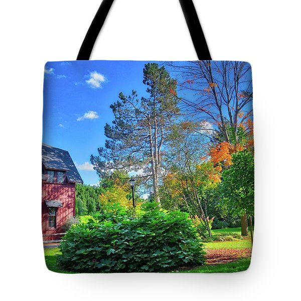 Tote Bag featuring the photograph Autumn Days On Campus At Cornell University - Ithaca, New York by Lynn Bauer
