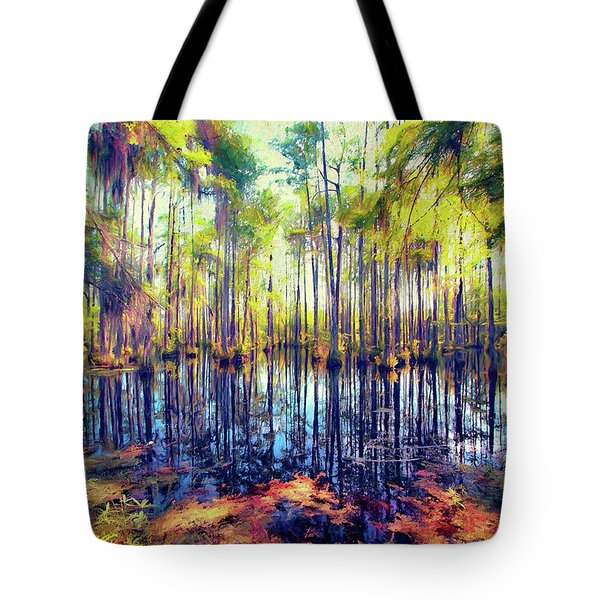 Autumn Fall Colors In The Cypress Swamp Ap Tote Bag