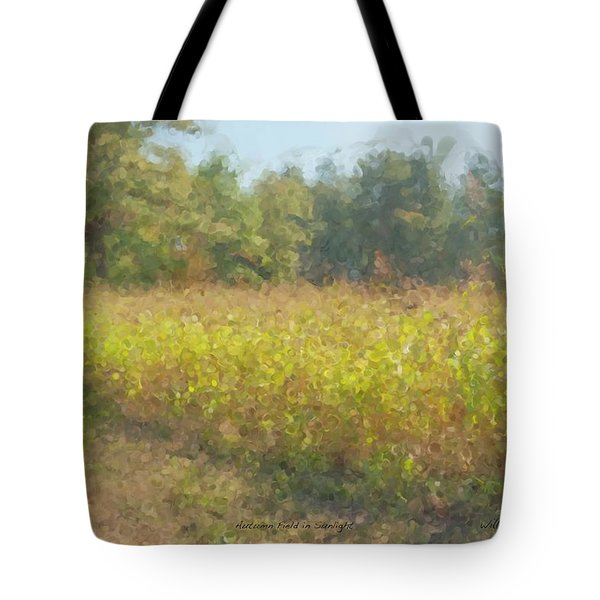 Autumn Field In Sunlight Tote Bag