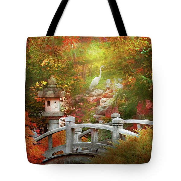 Tote Bag featuring the photograph Autumn - Finding Inner Peace by Mike Savad