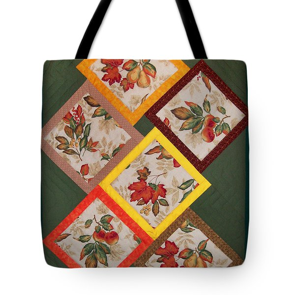 Autumn Fruit And Leaves Tote Bag